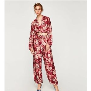 Zara limited edition floral pants !!!!